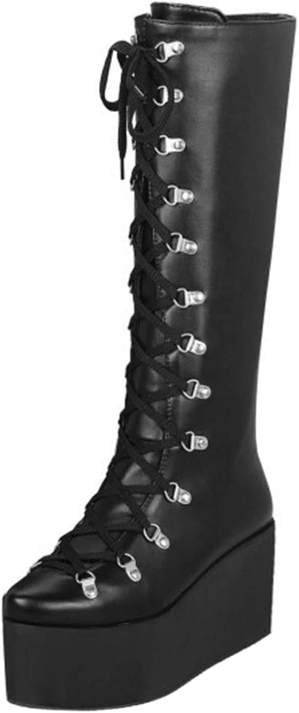 Melady Women Fashion Half Boots Flatform