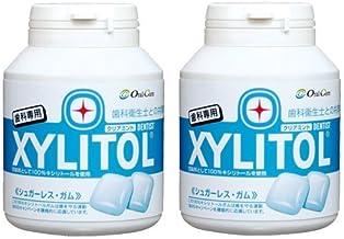 Xylitol Gum Bottle Type, 90 Tablets (Clear Mint) (2 Pieces)