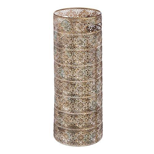Paragüero clásico Dorado de Metal de diseño de 53x20x20 cm - LOLAhome