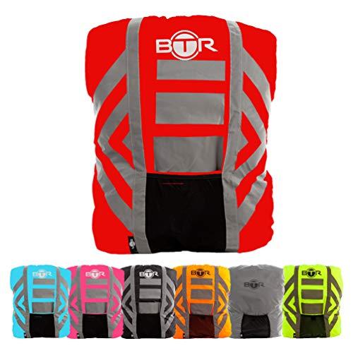 BTR Wasserfester Regenschutz für den Rucksack, Regenschutz für Schulranzen. Rot. Medium.