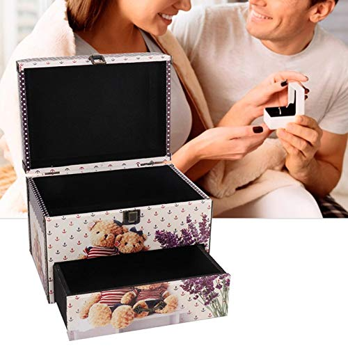 Jewelry Box Portable Two-layer, Jewelry Boxes & OrganizersBoxesJewelry Storage Box Storage Box Case Props and Drawer Decoration Gift Box MDF Leather Easy to Store Watches Necklaces Earrings
