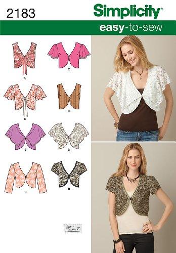 Simplicity 2183 Easy to Sew - Patrones de Costura para Chalecos y Toreras (Tallas 34 a 42)