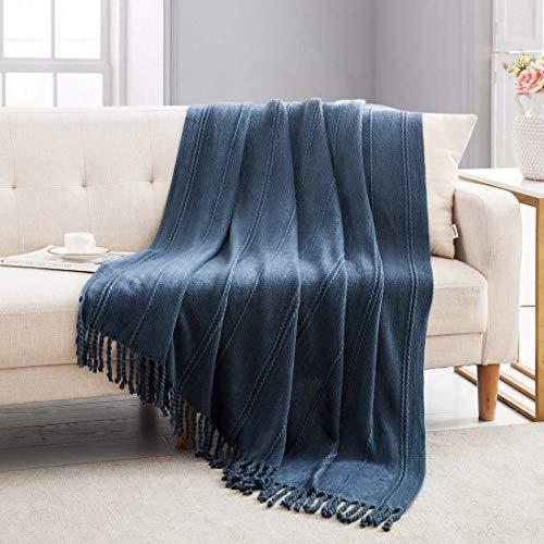 manta azul de la marca