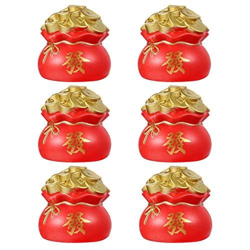 VALICLUD 6 Unids Resina Hucha Cornucopia Contenedor de Monedas Olla de Ahorro Banco de Monedas Banco de Dinero Escritorio Feng Shui Ornamento para La Fortuna Y La Riqueza Grande