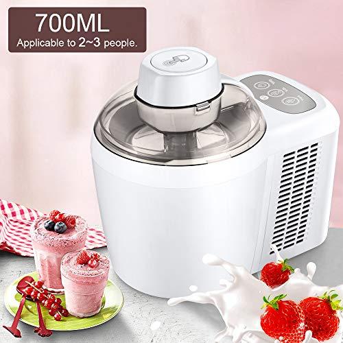 Sale!! LWQ 700Ml Household Full Automatic Soft Hard Ice Cream Maker, Machine Intelligent Sorbet Frui...