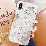 Emlivi Funda para iPhone 7 Plus, carcasa para iPhone 8 Plus de 5,5 pulgadas, diseño de mármol, ultrafina, de silicona TPU, suave, cristal transparente, antigolpes, carcasa trasera