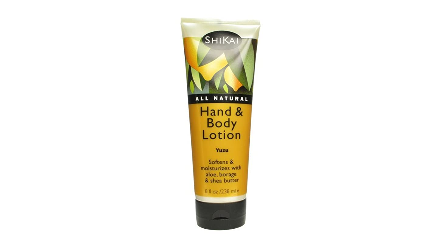 恐れるちょっと待ってスロープShikai All Natural Hand And Body Lotion Yuzu - 8 fl oz by Shikai Products