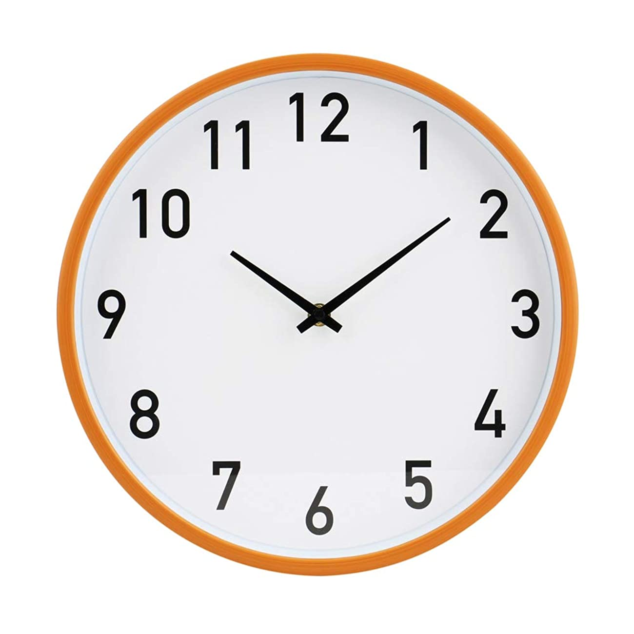 商品からに変化する精通した掛け時計 木目調時計アナログ 静音 インテリア サイレントムーブメント アート 大型 文字盤掛け時計【白盤/ブラックインデックス】