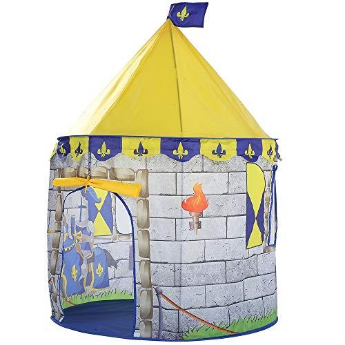 LAMPSJN Tiendas Infantiles Kids Play Tent Tent Ball Pool Niño Niña Castillo de la Princesa portátil Cubierta del Juego del bebé al Aire Libre Carpas casa choza for los niños Juguetes Tiendas de Tunel