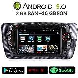 GÜMÜ-PX5PROAT10- Radio de Coche para Seat Ibiza Android 9.0 + 2 GB RAM + 16 GB ROM Navegación GPS, Pantalla táctil de 7', Soporte WiFi, Bluetooth, Puerto USB