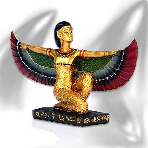 mtb more energy Deko Figur ''Goddess of Death'' - knieende Isis-Statue - 9x15x4 cm - Dekoration Ägypten Göttin
