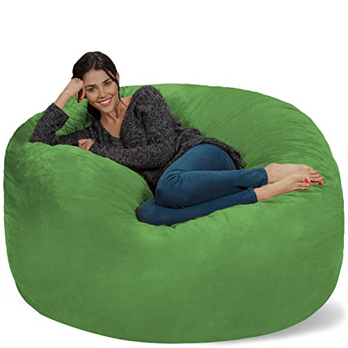 Chill Sack - Puf Gigante de Espuma viscoelástica de 5 pies, sofá Grande con Funda de Microfibra Suave, Color Lima
