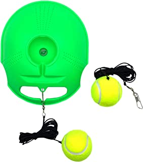 TaktZeit Tennis Trainer Rebound Baseboard Self Tennis Training Tool Ball Back Training Gear with 2 String Balls