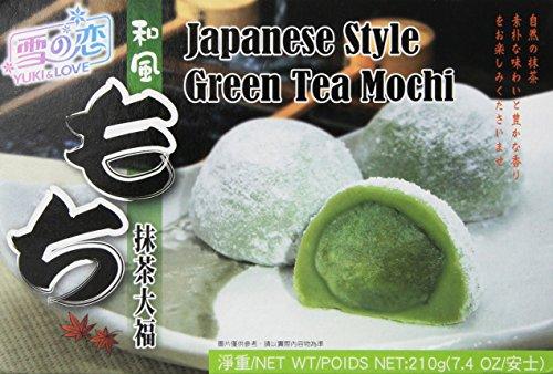 Yuki & Love Mochi japanische Reiskuchen Grüntee (1 x 210 g)