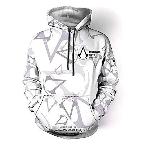 LJ123 Herren Hoodie Assassins Creed Hoodie 3D-Druck Pullover Sweatshirt Hoodie Cosplay Kostüm
