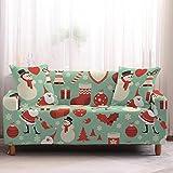 Mrzyzy Funda Sofa Elasticas 1 2 3 4 Plazas Fundas de Sofa Ajustables Fundas Decorativa para Sofá Tema Navideño Estampadas Impresa Cubre Sofa (Color : D, Size : 3 Seater (190-230cm))