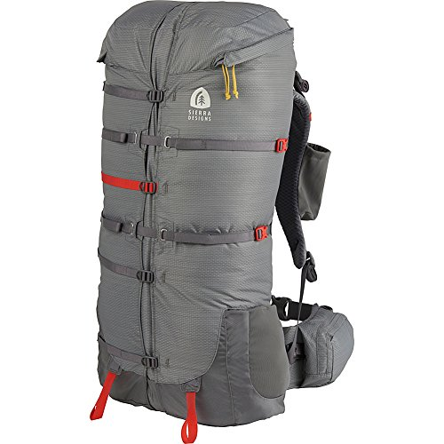 Sierra Designs Flex Capacitor 40-60L Hiking Backpack - S/M (Jet Gray - S/M Waist