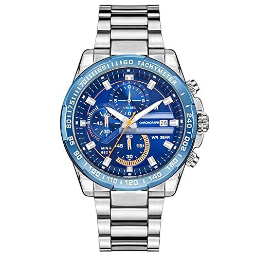 Men's Waterproof Watches, Casual Fake Three-Eye Watches, Trendy Business Belt Watches, Luminous...
