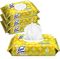 Lysol Handi-Pack Disinfecting Wipes, Lemon and Lime Blossom, Cleaning Wipes, Antibacterial Wipes, Sanitizing Wipes,...