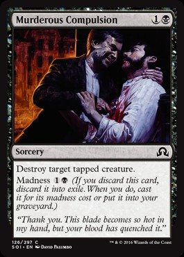 Magic The Gathering - Murderous Compulsion (126/297) - Shadows Over Innistrad