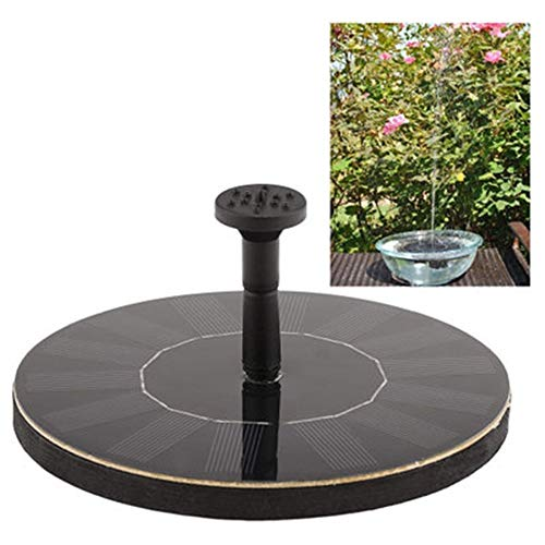 P/h/o/t/o Fontaines Solaires, Créatif Jardin Solaire Bionic Fontaine for Oiseaux Bain, 1.4W Petite Ronde Pompe Solaire for Fontaines