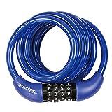 Master Lock 【正規輸入品】 ダイヤル式ケーブルロック(暗証番号ロック) 1.8m ブルー 8221JADPROBLU