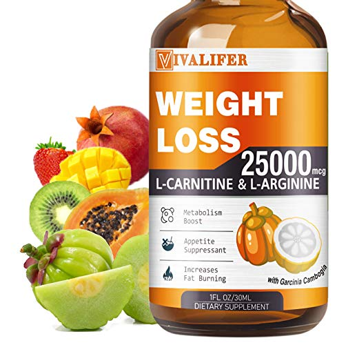 Weight Loss Drops, Keto Diet Drops for Fat Burner, Natural Metabolism Booster and Appetite Suppressant Supplement, Slimming Liquid with L-Carnitine, L-Arginine, 1 Fl Oz