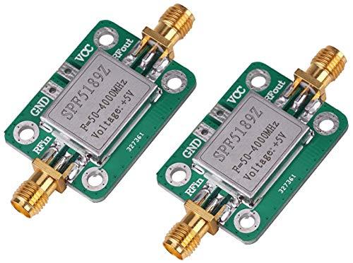 TECNOIOT 2pcs LNA 50-4000MHz SPF5189 RF Low Noise Amplifier Signal Receiver NF 0.6dB
