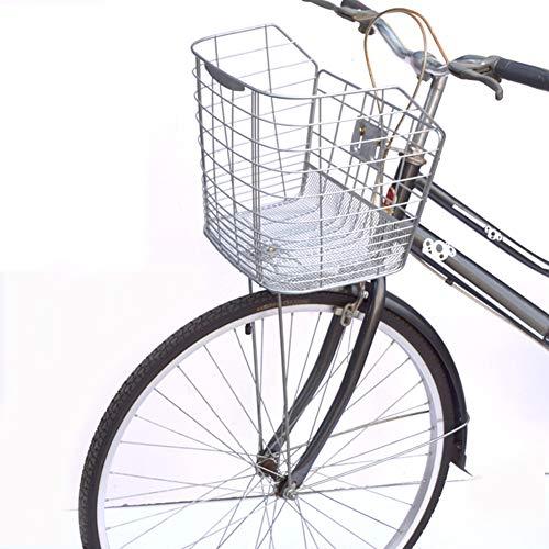 FYLY-Cesta Delantera para Bicicleta, Duradero Universal Alambre de Espino Cesta Delantera para Bici, Accesorios para Bici de Montaña/Bici Plegable/Bici Eléctrica