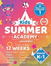 Kids Summer Academy by ArgoPrep - Grades K-1: 12 Weeks of Math, Reading, Science, Logic, Fitness and Yoga | Online Access Included | Prevent Summer Learning Loss