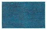Brandsseller Tappeto da bagno in ciniglia, circa 50 x 80 cm, a pelo alto e rotondo, colore: Petrolio