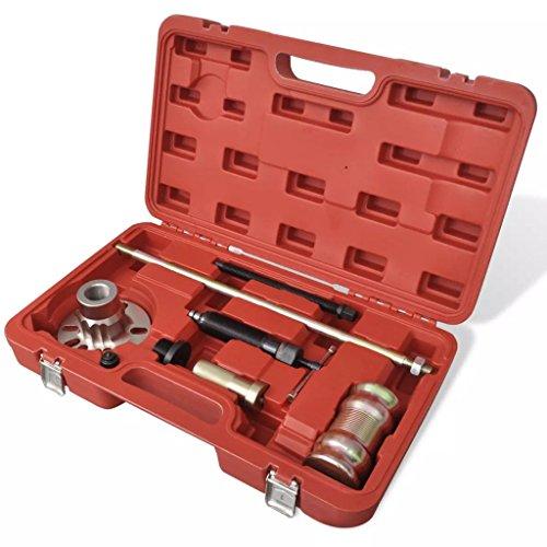 Xinglieu Set extracteur moyeu de Roue hydraulique avec maillet 10 Ton Facile à Utiliser, Transporter et fixez Accessoires pour véhicules boîte à Outils du véhicule