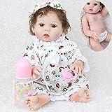 CHAREX Reborn Baby Doll, 18 inch Full Body Silicone Baby Girls, Lifelike Newborn Waterproof Washable Dolls for Kids Age 3+