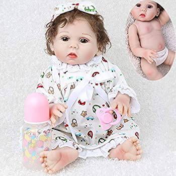 CHAREX Waterproof Reborn Baby Doll Full Body Silicone Anatomically Correct Reborn Babies Girl 18 inch Lifelike Newborn Washable Bath Dolls for Kids Age 3+