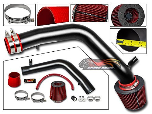 S&T Racing 03-07 for Honda Accord V6 3.0L 04-08 Acura TL 3.2L/07-08 TL Type-S 3.5L V6 Matte Black Cold Air Intake System + Filter