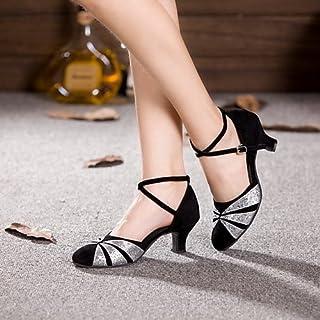 44ffdc7c T.T-Q Zapatos de Baile de Mujer Zapatos de Charol de Cuero Tacón Cubano  Principiante