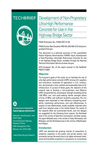 Development of Non-Proprietary Ultra-High Performance Concrete for Use in The Highway Bridge Sector