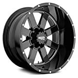 Moto Metal MO962 Gloss Black Milled Wheel Chromium (hexavalent compounds) (17 x 10. inches /8 x 125 mm, -24 mm Offset)