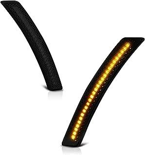 VIPMOTOZ Front Wheel Arch Full LED Dark Smoke Side Marker Light Lamp Assembly Replacement Pair For Mini Cooper R55 R56 R57 R58 R59 R60 R61, Driver & Passenger Side