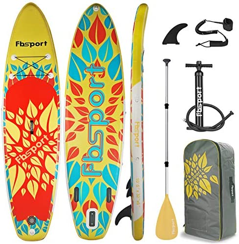 Premium Inflatable Stand Up Paddle Board 6 inches Thick with Durable SUP Accessories Carry Bag product image