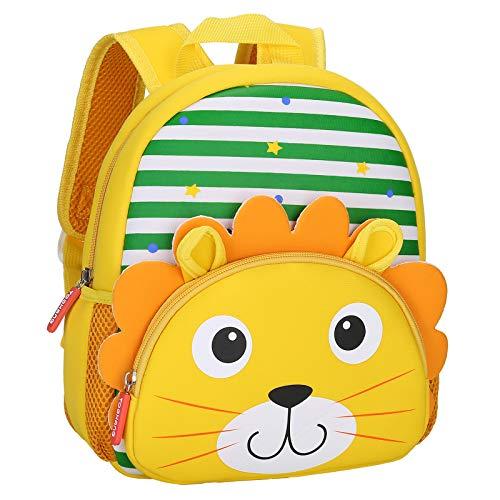 BAIGIO Kinderrucksack Kinder Mini Schulrucksack Tiere Kindergartentasche für Jungen Mädchen Kleinkind (Löwe)