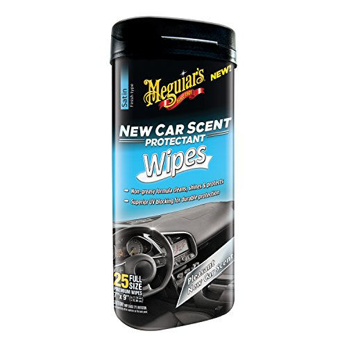 Meguiar's G4200 New Car Scent Protectant Wipes, 25 Pack
