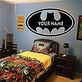 Batman Wand Aufkleber Aufkleber Batman personalisierte Name
