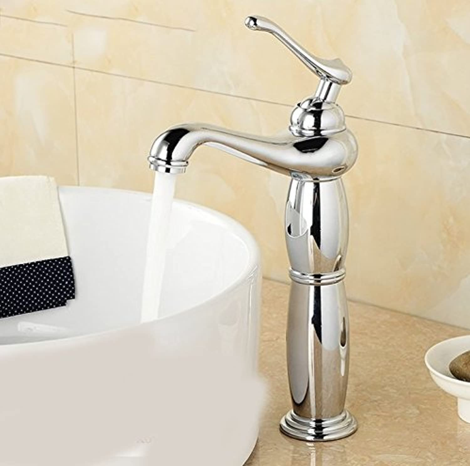Hlluya Professional Sink Mixer Tap Kitchen Faucet The wash-basin, single handle single hole, the copper surface, cold and hot tub, sink faucet, D.