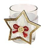 STEFANAZZI 6 Pezzi portalumini Decorati Stella Bianca per la tavola segnaposto di Natale D...