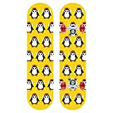 GCJJ-HSY Monopatín completo de arce de 23 pulgadas (pingüino bebé)