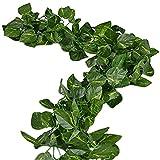 Uni-Love, Blättergirlande, 47,5m lang, künstliches Blattwerk für zu Hause, innen und außen verwendbar Scindapsus Leaves