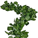 Unilove 168 feet Fake Foliage Garland Leaves...