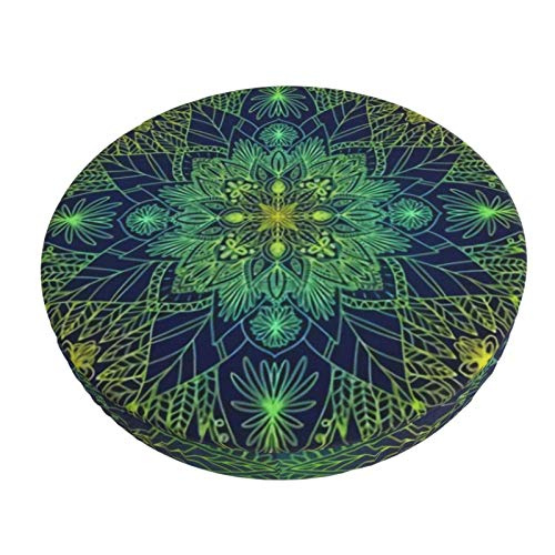 Round Bar Stools Cover,Mandala Druckt Illusionen,Stretch Chair Seat Bar Stool Cover Seat Cushion Slipcovers Chair Cushion Cover Round Lift Chair Stool