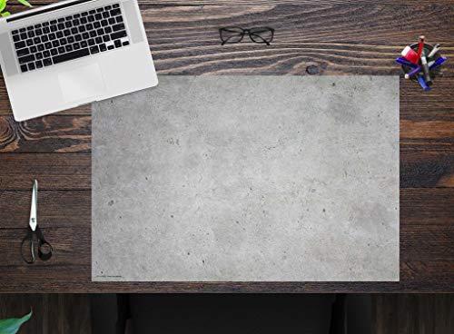 """Schreibtischunterlage Kinder und Erwachsene – """"Betonoptik hell"""" – aus erstklassigem Vinyl (Kunststoff) – 60 x 40 cm – Rutschfeste Schreibunterlage mit bestem Schutz – Made in Germany"""